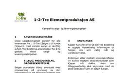 Generelle Salgs – og leveringsbetingelser 1-2-TRE